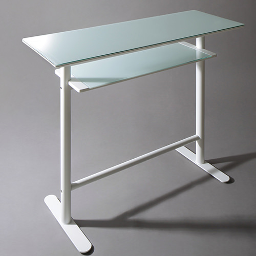 ダイニング テーブル 2人用 ブラック ホワイト 幅:120cm~129cm 奥行き:40cm~49cm 高さ:90cm~99cm キャスター無し 既成品 カジュアル クラシック シンプル ベーシック 無地 ガラス・クリスタル 角型 白 ホワイト 黒 ブラック 長方形 モダン おしゃれ シンプル