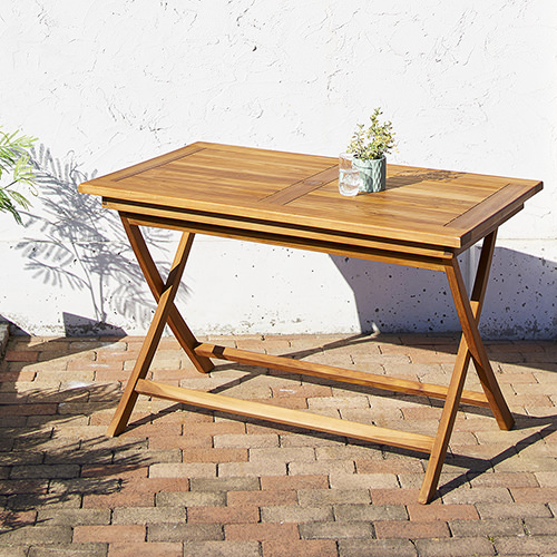 ダイニング テーブル 4人用 ブラウン 幅:120cm~129cm 奥行き:70cm~79cm 高さ:70cm~79cm キャスター無し 既成品 カジュアル カントリー シンプル ナチュラル ベーシック モダン 無地 木 脚折りたたみ 角型 茶 ブラウン 長方形 かわいい おしゃれ モダン シンプル