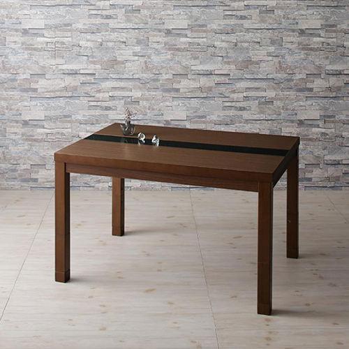 ダイニング テーブル 4人用 ブラウン キャスター無し 既成品 クラシック シンプル ベーシック モダン 無地 木 5点 茶 ダークブラウン 5点 モダン おしゃれ クラシック シンプル カントリー 高さ調整可 来客 天然木