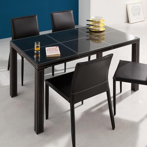 ダイニング テーブル ガラス天板 ブラック ホワイト キャスター無し シンプル ベーシック モダン 無地 木 白 ホワイト 黒 ブラック モダン おしゃれ クラシック ヴィンテージ シンプル 来客 木製