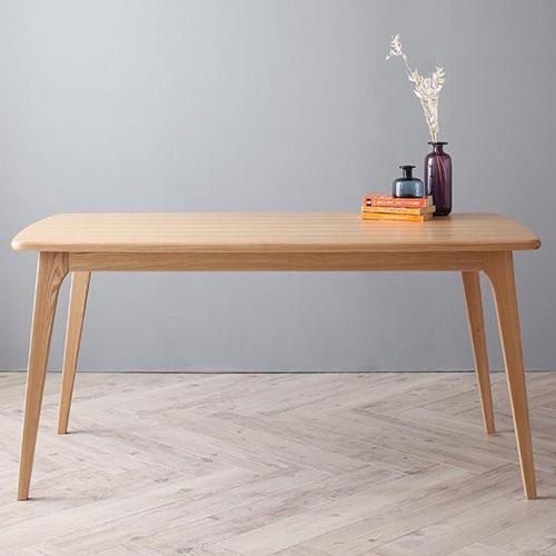 ダイニング テーブル 木脚 ブラウン 幅:150cm~159cm 奥行き:80cm~89cm 高さ:70cm~79cm エレガント カジュアル シンプル ナチュラル ベーシック モダン ラグジュアリー 北欧 木 角型 茶 ブラウン 70cm かわいい おしゃれ モダン シンプル ナチュラル 北欧 長方形 木製