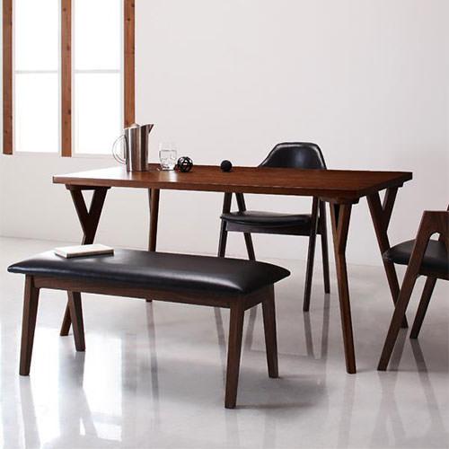 ダイニング テーブル 4人用 ブラウン 幅:140cm~149cm 奥行き:80cm~89cm 高さ:70cm~79cm エレガント カジュアル シンプル ナチュラル ベーシック モダン ラグジュアリー 北欧 木 角型 茶 ダークブラウン 70cm かわいい おしゃれ モダン シンプル ナチュラル 北欧 長方形
