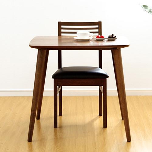 ダイニング テーブル 木脚 ブラウン 幅:70cm~79cm 奥行き:70cm~79cm 高さ:70cm~79cm エレガント カジュアル シンプル ナチュラル ベーシック ラグジュアリー 木 茶 ブラウン 70cm かわいい おしゃれ クラシック ナチュラル 木製