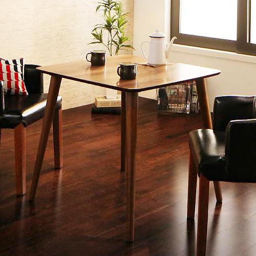 ダイニング テーブル 木脚 ブラウン 幅:70cm~79cm 奥行き:70cm~79cm 高さ:70cm~79cm エレガント カジュアル シンプル ナチュラル ベーシック モダン ラグジュアリー 北欧 木 茶 ブラウン おしゃれ カフェ シンプル ナチュラル 北欧 長方形