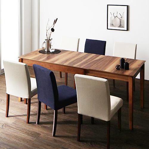 ダイニング テーブル 6人用 ブラウン キャスター無し クラシック シンプル ナチュラル ベーシック モダン レトロ 無地 木 5点 茶 ブラウン 5点 アンティーク モダン かわいい おしゃれ クラシック ヴィンテージ 応接 木製