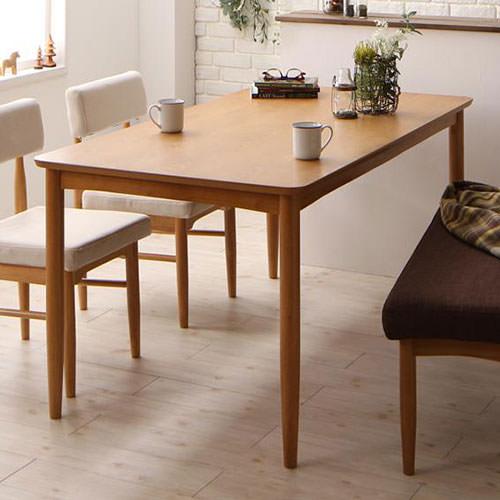ダイニング テーブル 6人用 ブラウン ベージュ キャスター無し カジュアル シンプル ベーシック 北欧 無地 木 茶 ブラウン アイボリー かわいい おしゃれ シンプル ナチュラル 北欧 木製