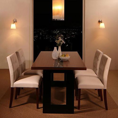 ダイニング セット ガラス天板テーブル ブラック ホワイト 幅:40cm~49cm 奥行き:50cm~59cm 高さ:80cm~89cm キャスター無し カントリー クラシック シンプル ベーシック モダン 無地 合成皮革 白 ホワイト 黒 ブラック 背もたれ付き おしゃれ クラシック モダン