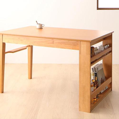 ダイニング テーブル 4人用 ブラック 幅:120cm~129cm 奥行き:70cm~79cm 高さ:70cm~79cm キャスター無し クラシック シンプル ナチュラル ベーシック モダン レトロ 無地 木 茶 ダークブラウン 70cm アンティーク モダン かわいい おしゃれ クラシック 応接 木製