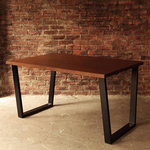 ダイニング テーブル スチール脚 ブラウン キャスター無し クラシック シンプル ナチュラル ベーシック モダン レトロ 無地 木 5点 茶 ダークブラウン 5点 アンティーク モダン かわいい おしゃれ クラシック ヴィンテージ 応接 木製