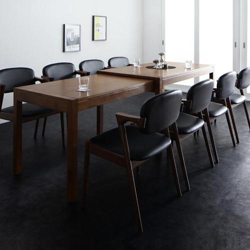 ダイニング セット 伸縮式テーブル ブラック ホワイト カントリー クラシック シンプル ベーシック モダン 無地 木 黒 ブラック 白 ホワイト 長方形 かわいい おしゃれ クラシック モダン シンプル ナチュラル カントリー 伸長 伸縮 木製