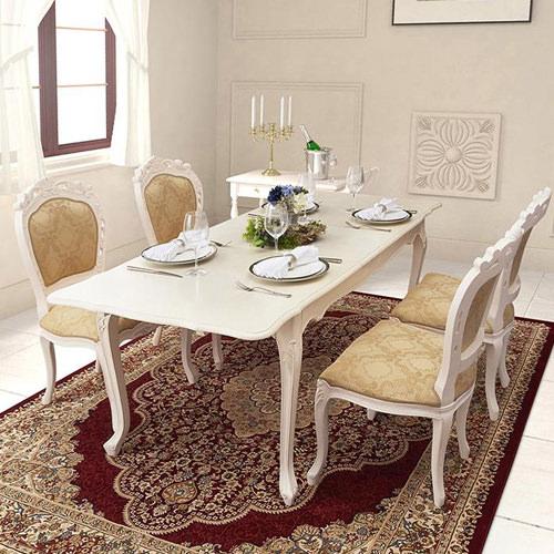ダイニング セット 伸縮式テーブル ホワイト ブラウン 幅:140cm~149cm 奥行き:80cm~89cm 高さ:70cm~79cm キャスター無し 既成品 カントリー クラシック シンプル ベーシック モダン 無地 木 角型 茶 ブラウン 長方形 アンティーク かわいい おしゃれ クラシック
