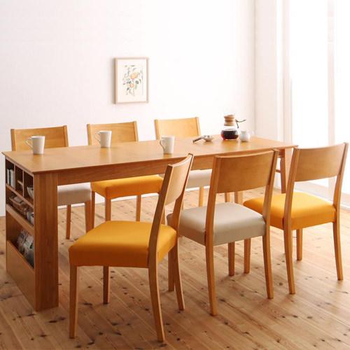 ダイニング セット 伸縮式テーブル ブラウン ベージュ カジュアル シンプル ナチュラル ベーシック 北欧 無地 木 6点 アイボリー 茶 ダークブラウン 6点 収納 かわいい おしゃれ シンプル ナチュラル 北欧 来客 木製