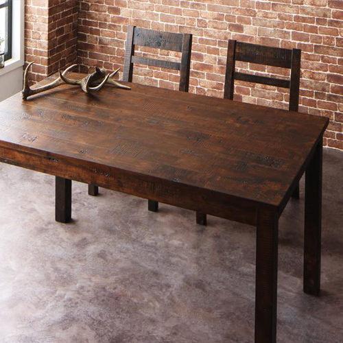 ダイニング テーブル 木脚 ブラウン クラシック シンプル ナチュラル ベーシック モダン レトロ 無地 木 5点 茶 ダークブラウン 5点 アンティーク モダン かわいい おしゃれ クラシック ヴィンテージ カフェ 木製