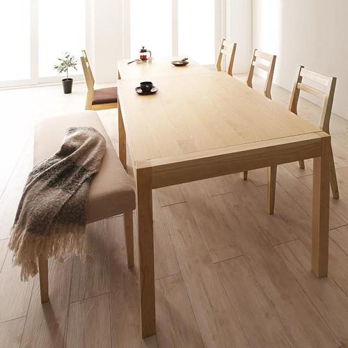 ダイニング テーブル 6人用 ブラウン 幅:70cm~79cm 幅:120cm~129cm 幅:150cm~159cm 奥行き:70cm~79cm 高さ:70cm~79cm キャスター無し 既成品 アジアン シンプル トロピカル ナチュラル ロマンチック 無地 木 角型 茶 ダークブラウン 長方形 モダン かわいい