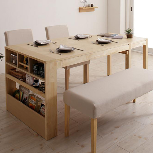 ダイニング テーブル 6人用 ブラウン ベージュ 既成品 カントリー クラシック シンプル ベーシック モダン 無地 木 7点 茶 ブラウン アイボリー 長方形 かわいい おしゃれ クラシック モダン シンプル ナチュラル カントリー 伸長 伸縮 木製