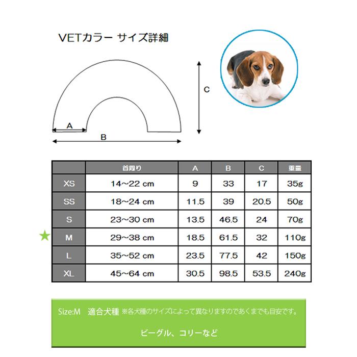 ファンタジーワールド VETカラー:M ブルー VC-3B (ペット用保護グッズ)