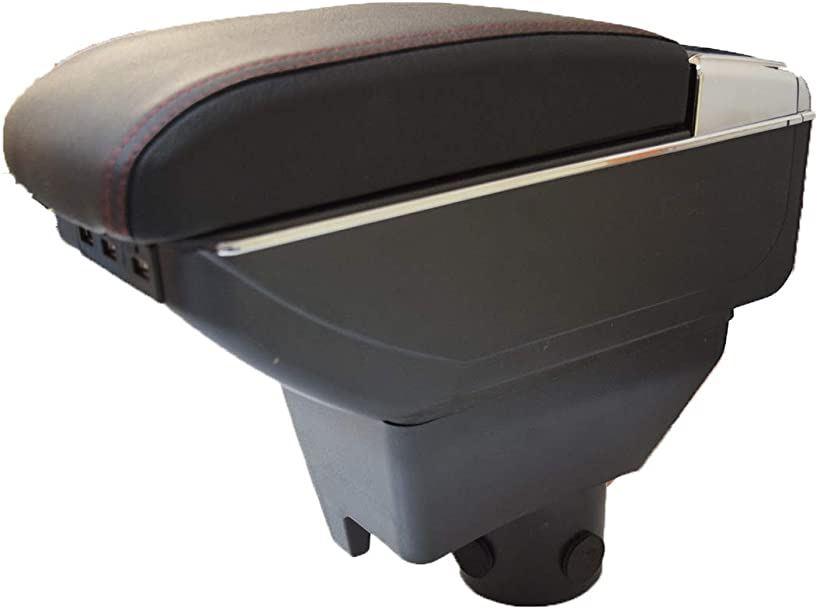 start.side  トヨタ アクア ヴィッツ アームレスト コンソールボックス 車 車専用 収納 灰皿 拡張BOX(黒ブラック)