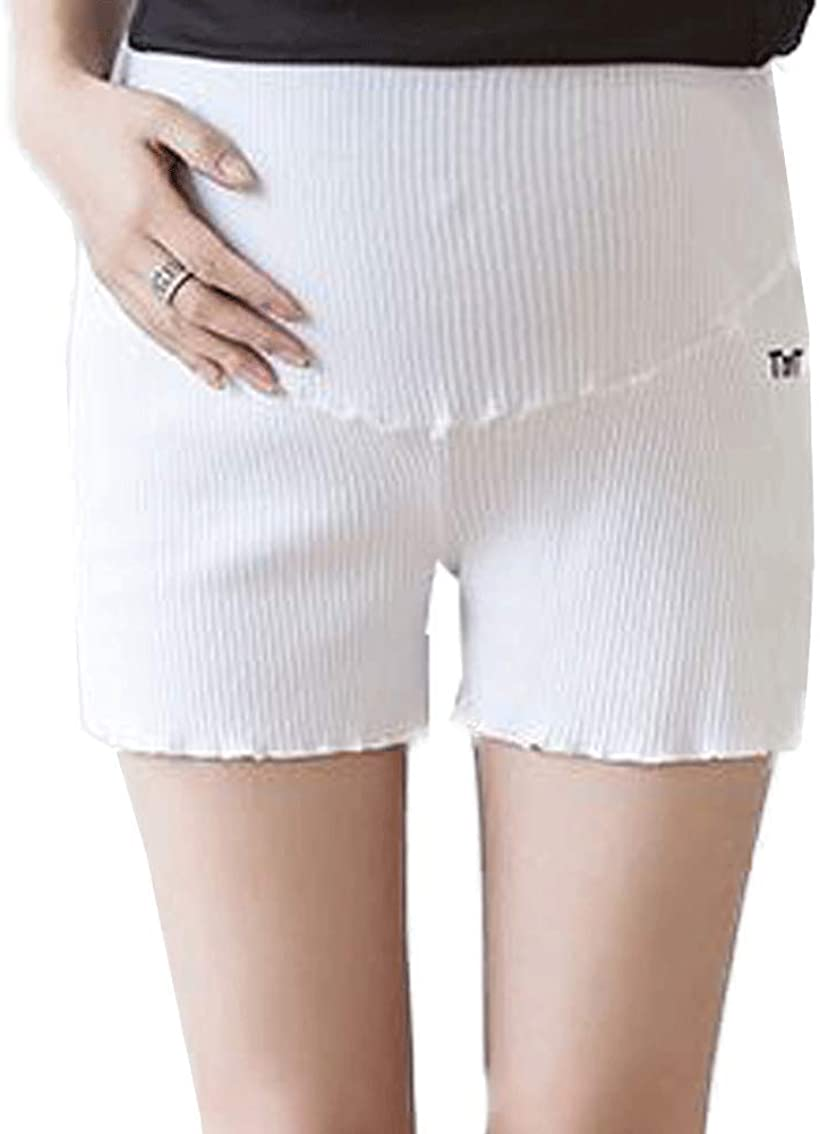 pkpohs マタニティ レギンス ショートパンツ 税込 インナー ゴム ホワイト 調節可能 人気急上昇 フリー ホワイト, 短パン