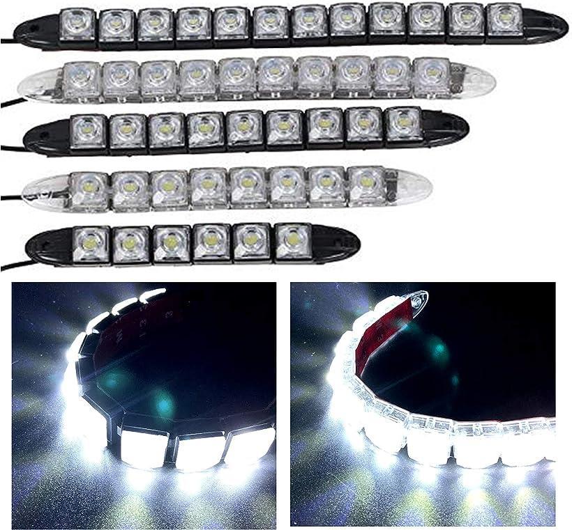 Kstyle c b 12V 定番スタイル LED ホワイト発光 デイライト スポットライト ブラック, ブラックベース フォグランプ 2本セット 9連 レビューを書けば送料当店負担 防水 9連-24cm 汎用