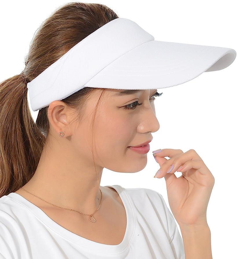 Eiza サンバイザー 売店 スポーツ 買物 ロング UVカット e550 ホワイト
