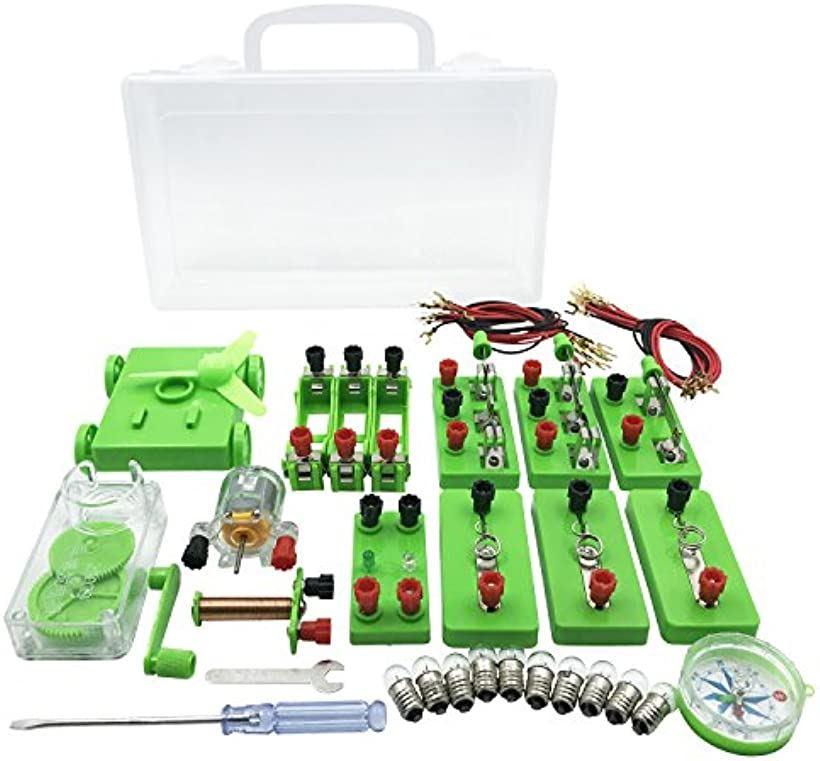 激安通販専門店 AW-Net 小学生 理科 電気実験キット 格安激安 豆電球実験セット 直列 電磁石 回路 ケース 並列 付き