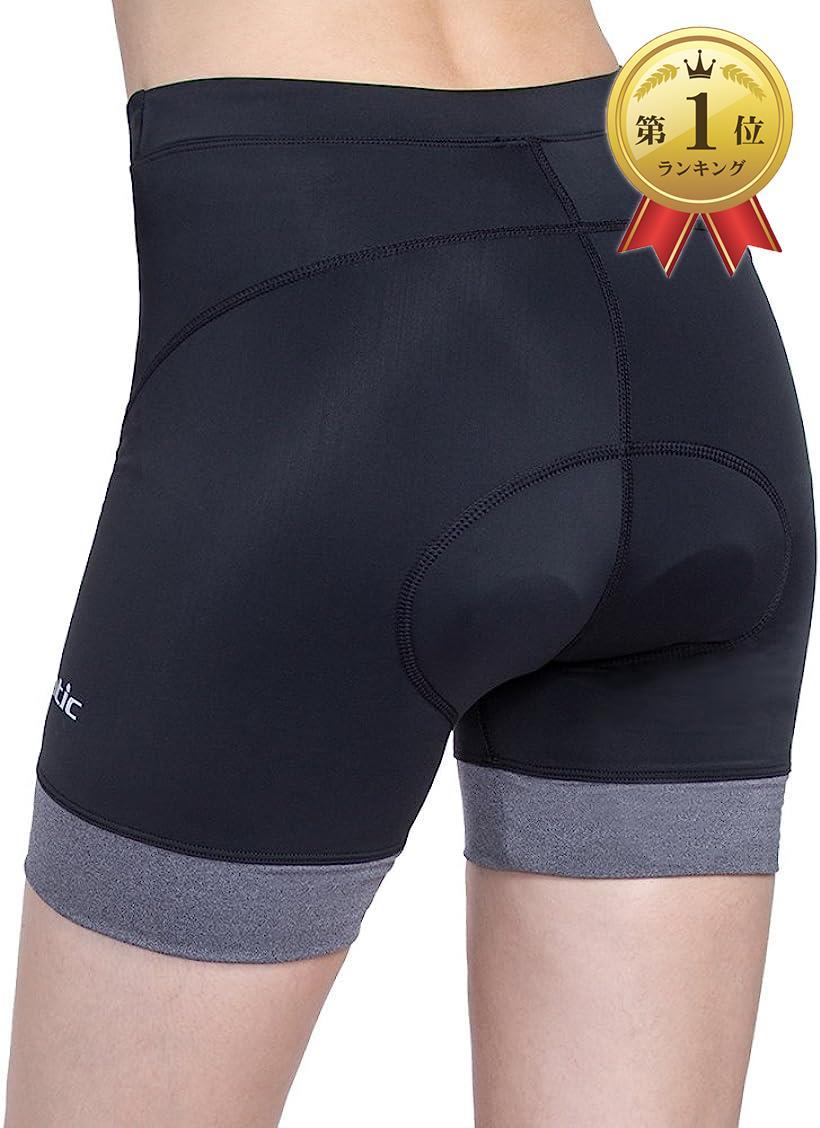 Santic サンティック レディース サイクルパンツ レーサーパンツ サイクリング ショーツ ブラック NEW XL 3Dパッド付き 自転車 販売期間 限定のお得なタイムセール ロードバイク