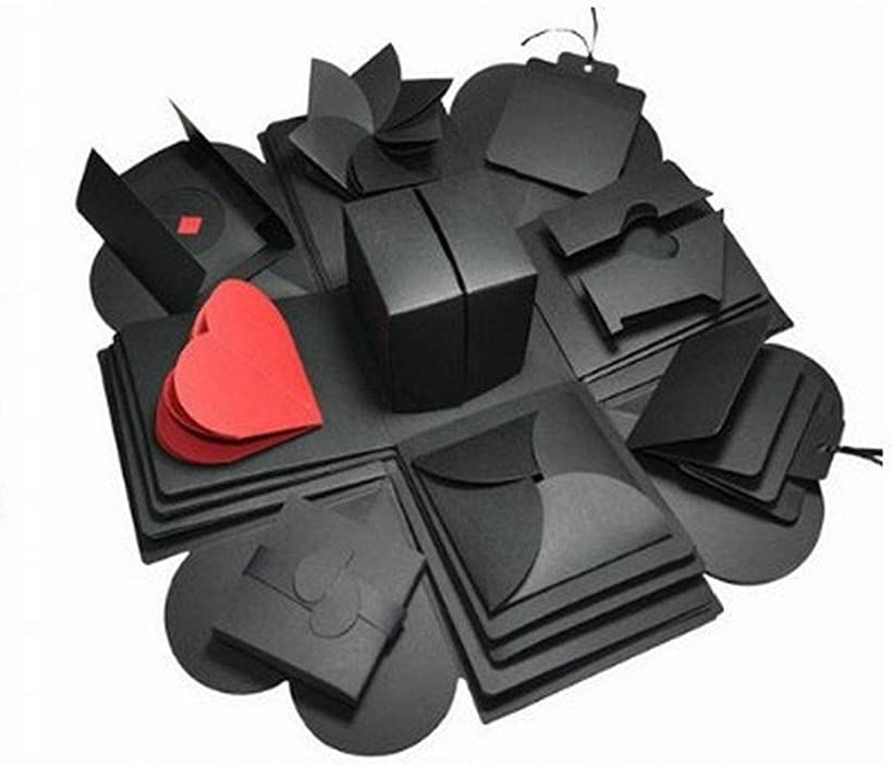 <title>Happiest サプライズ ボックス DIY 手作りアルバム 誕生日 記念日 プレゼント 格安 価格でご提供いたします BOX インスタ映え ブラック</title>
