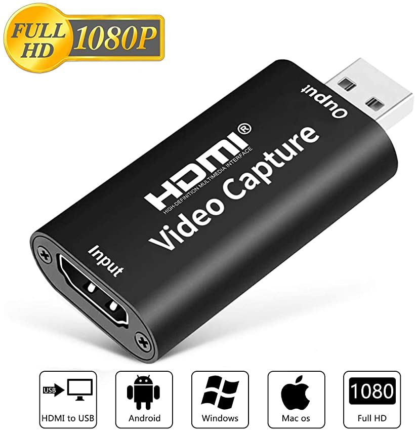 ALTENG HDMI キャプチャーボード ゲームキャプチャー ビデオキャプチャー 軽量小型 USB2.0対応 記念日 1080p30Hz 流行 電源不要 PS3やOBS Potplayer XSplit PS4 実況 ブラック Nintendo PC Xbox
