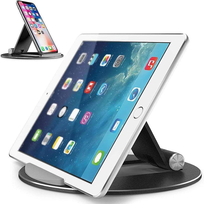 OBENRI 超安定タブレット スタンド ipad スマホ iphone 角度調整可能 アルミ合金素材 SALE 卓上 Black 4~13 人気の製品