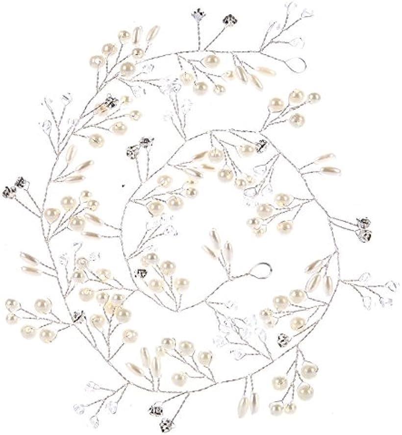 Angel's Closet 髪飾り 編込み ワイヤー ヘア アクセサリー 時間指定不可 ラインストーン カチューシャ パール シルバー ヘッドドレス ティアラ 定番キャンバス