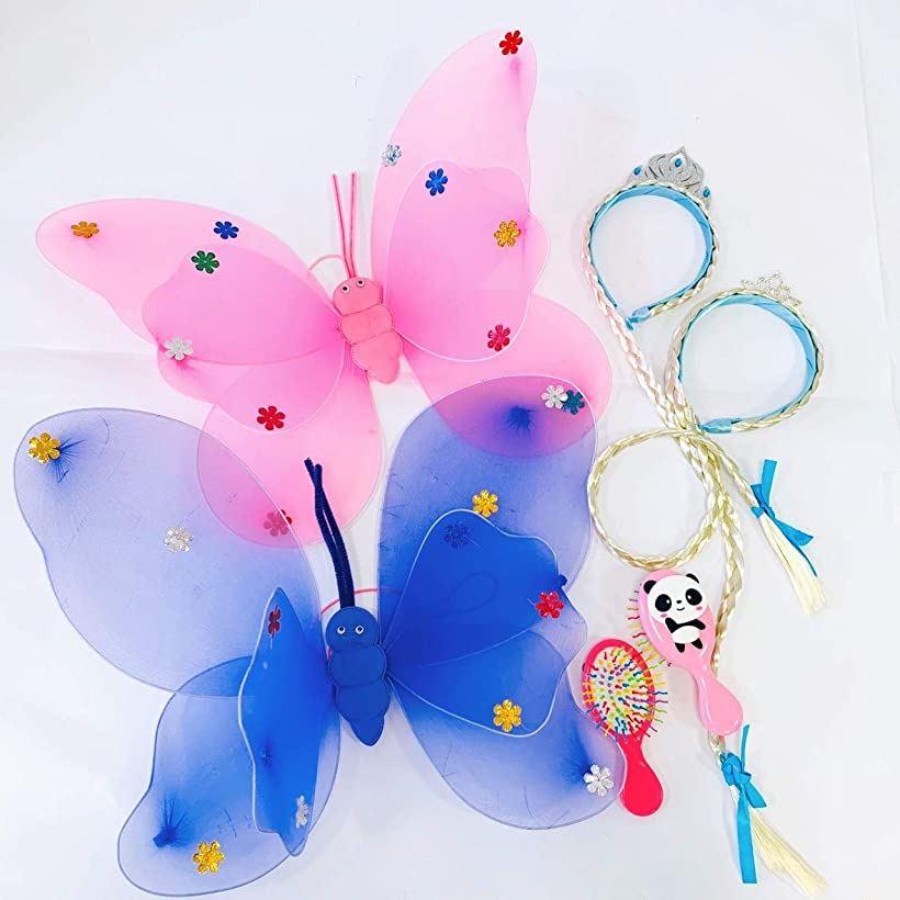 伊豆シャボテン本舗 おもちゃ お姫様 バタフライ 情熱セール 蝶々 予約 ペア 3点セット ヘアブラシ ヴェールカチューシャ