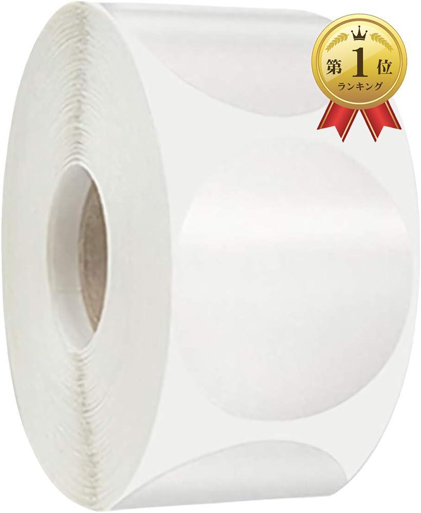 ノンブランド品 かきもと商店 円形シール ステッカー 丸型 ロール 25ミリ 透明 大容量 1000枚 25mm 定番から日本未入荷 ラベル トラスト