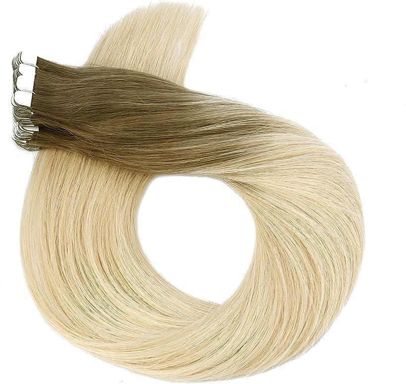 特売 Neitsi ネイティス シールエクステ 人毛 ウィッグ テープエクステ エクステンション 豊富な品 ストレートロング 60 T8A 20枚 60+P+T8A 髪の毛 12inch レミーヘア