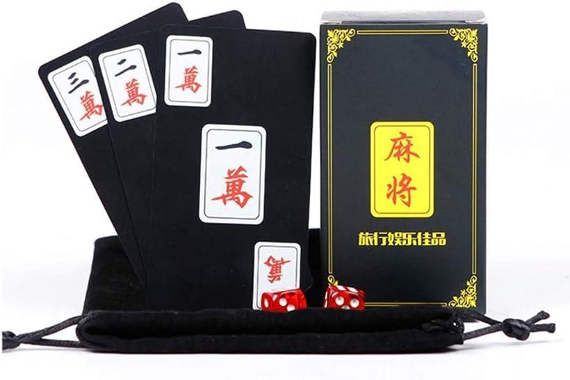 heizi まとめ買い特価 麻雀 カードゲーム 格安SALEスタート プラスチック 卓上 麻雀ゲーム 持ち運び便利 旅行 軽量 サイコロ2個付き 丈夫 携帯