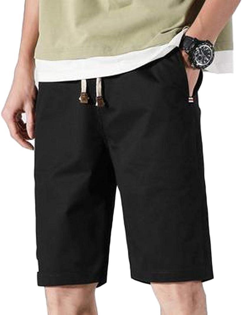 BENQUE ベンケ ハーフパンツ 1年保証 メンズ 5分丈 短パン きれいめ ブラック,2XL 注文後の変更キャンセル返品 ブラック 無地 カジュアル 2XL 半ズボン 大人