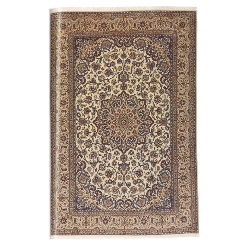 ナイン産 ペルシャ絨毯 ウール シルク 310.5x203.5cm【絨毯/ペルシャ/高級/エレガント/コーディネート/リビング/カーペット】(persian-868)