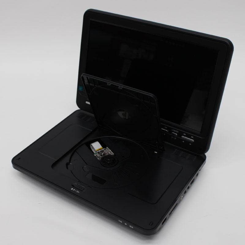 10.1インチ フルセグ搭載 ポータブルDVDプレーヤー HTA-PD10FS【DVD/CD/地デジ/フルセグ/車載用/アカート】(000000035665)