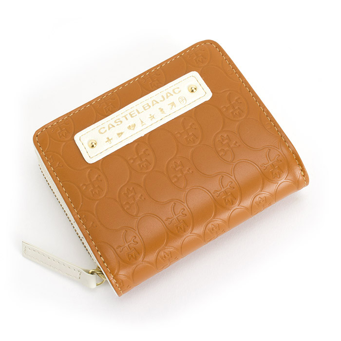 カステルバジャック 財布 二つ折り財布 ラウンドファスナー キャメル CASTELBAJAC 074601 レディース 婦人