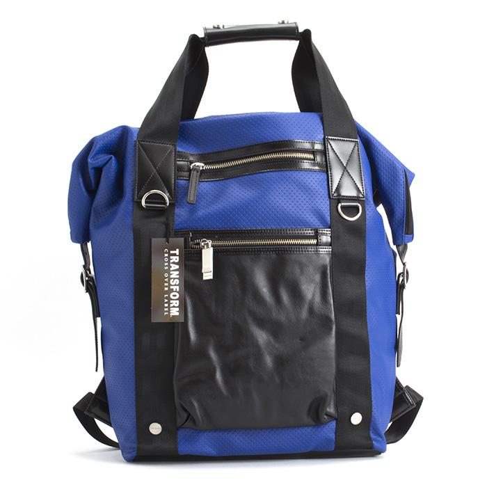 トランスフォーム バッグ リュックサック ハンドバッグ ブルー TRANSFORM 027721 メンズ 紳士