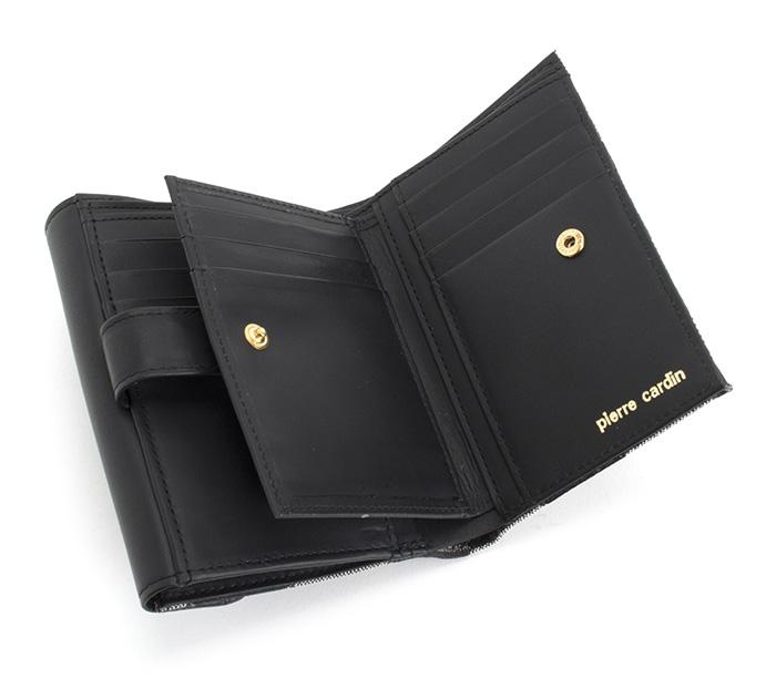 new product 62866 f83f7 ピエールカルダン 財布 二つ折り財布 黒 Pierre Cardin pck004-10 レディース 婦人|ユアハピネス