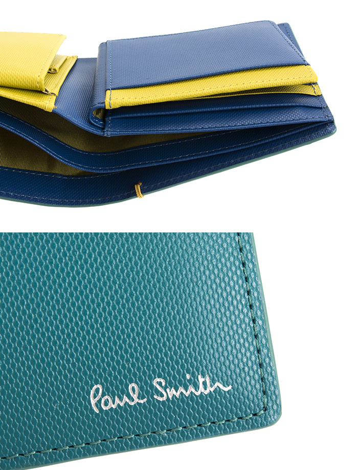 1baece5f6183 ポールスミス 財布 二つ折り財布 スカイ(グリーンがかったようなお色です。) Paul Smith psu936-35 メンズ 紳士-メンズ財布 -  dev-website.polban.ac.id