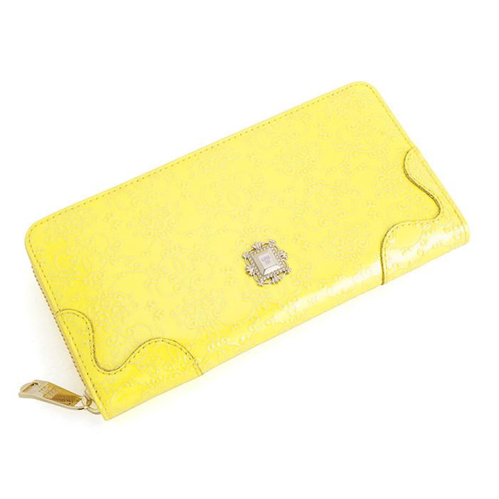展示品箱なし アナスイ 財布 長財布 ラウンドファスナー イエロー系 ANNA SUI 310490-60 レディース 婦人