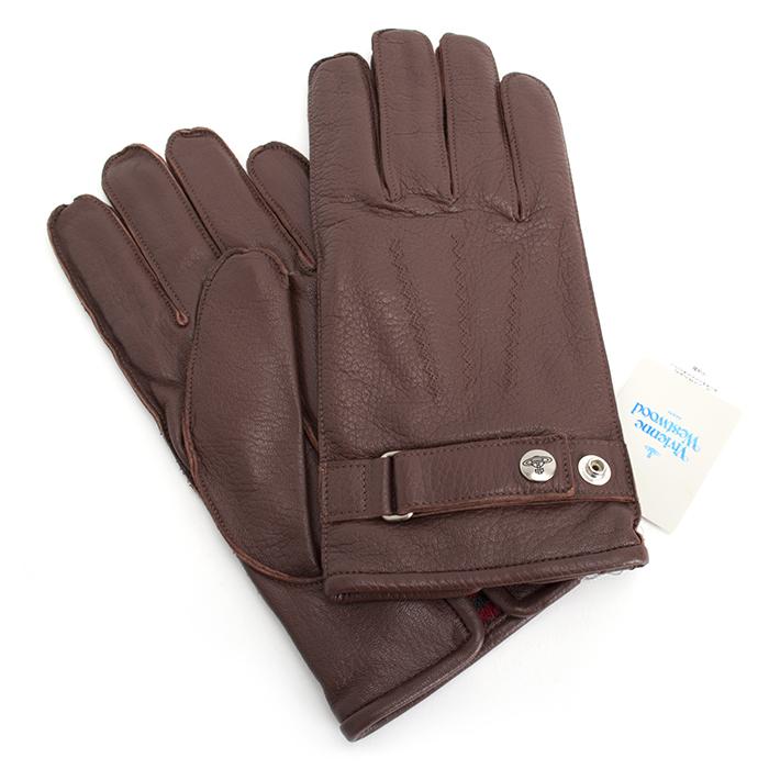 ヴィヴィアンウエストウッドマン 手袋 茶系 Vivienne Westwood MAN 517vw53025093 メンズ 紳士
