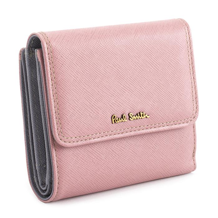 展示品箱なし ポールスミス 財布 二つ折り財布 ピンク Paul Smith pww803-24 レディース 婦人