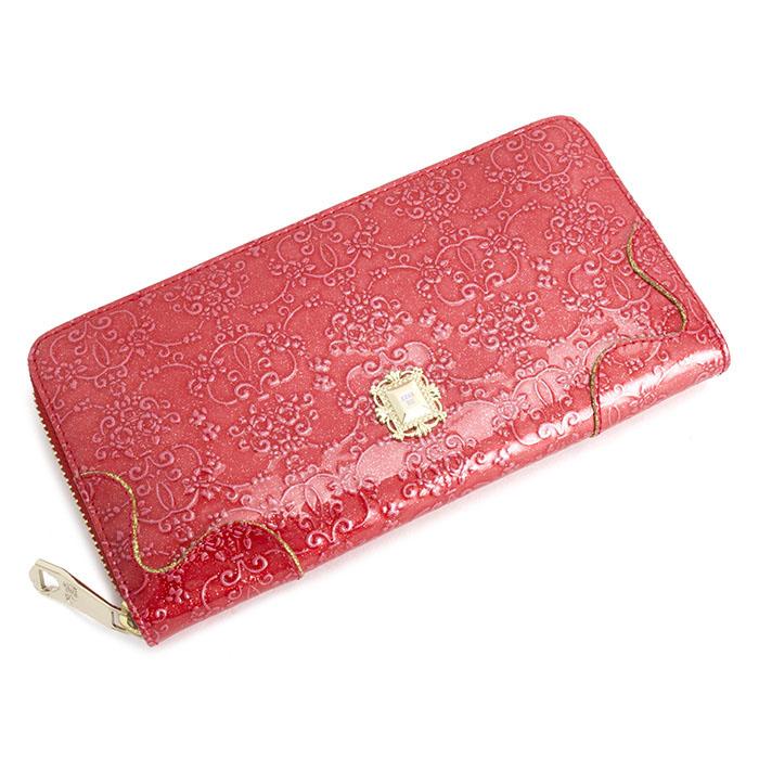 展示品箱なし アナスイ 財布 長財布 ラウンドファスナー 赤系 ANNA SUI 310490-30 レディース 婦人