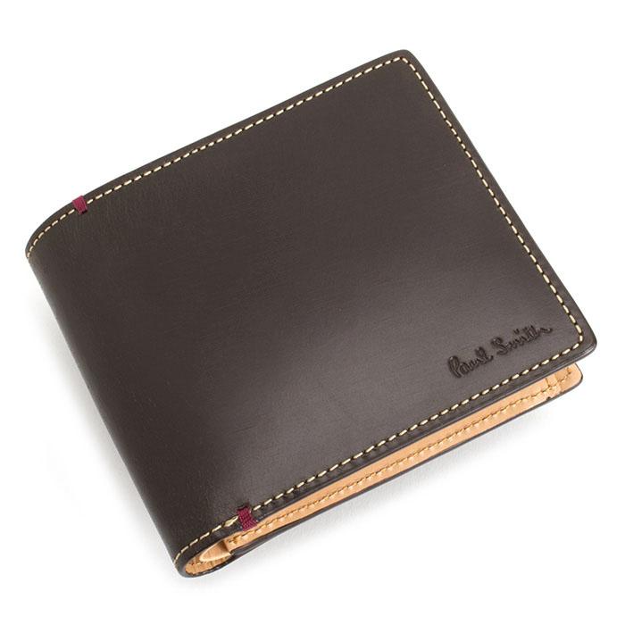 ポールスミス 財布 二つ折り財布 ブラウン Paul Smith psu874-70 メンズ 紳士