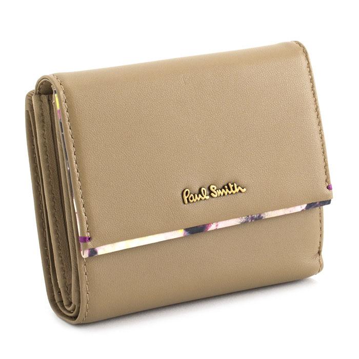 展示品箱なし ポールスミス 財布 二つ折り財布 ベージュ Paul Smith pwa363-90 レディース 婦人