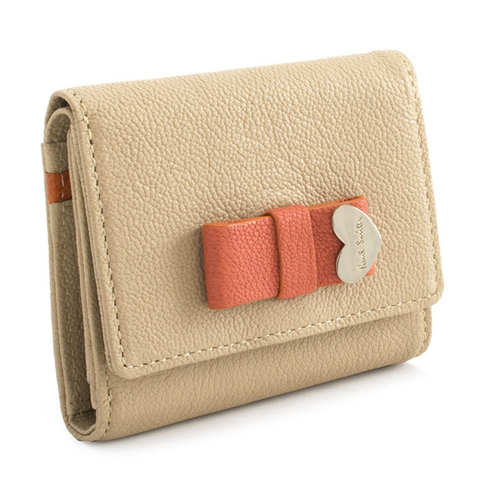 ポールスミス 財布 三つ折り財布 ベージュ Paul Smith pwu902-90 レディース 婦人