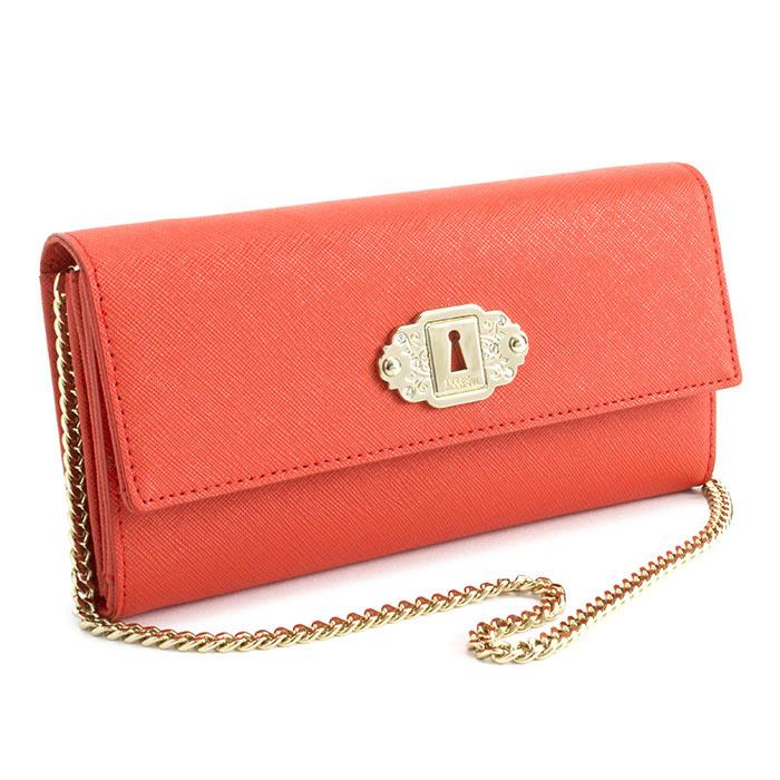 展示品箱なし アナスイ 財布 長財布 お財布ショルダー 2way チェーン ショルダー 赤系(オレンジがかったお色です。) ANNA SUI 311182-30 レディース 婦人