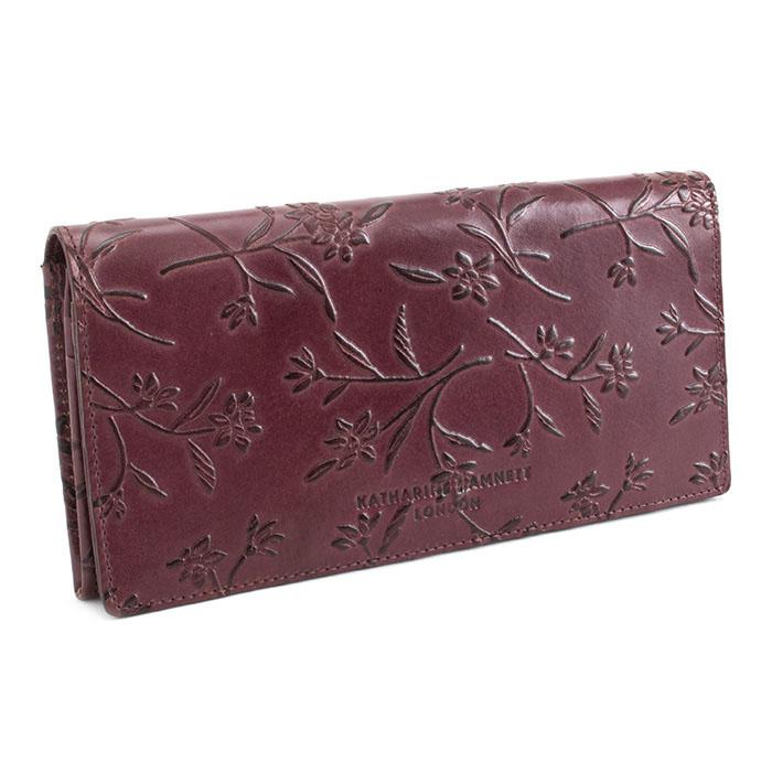 展示品箱なし キャサリンハムネット 財布 長財布 ワイン KATHARINE HAMNETT LONDON khp335-80 レディース 婦人
